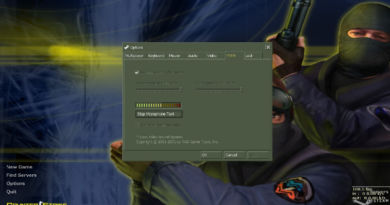 Настройки микрофона клиента Counter-Strike 1.6